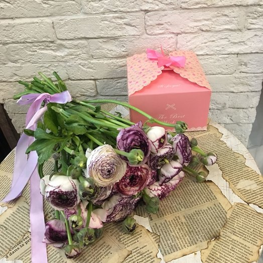 Роскошь ранункулюсов: букеты цветов на заказ Flowwow