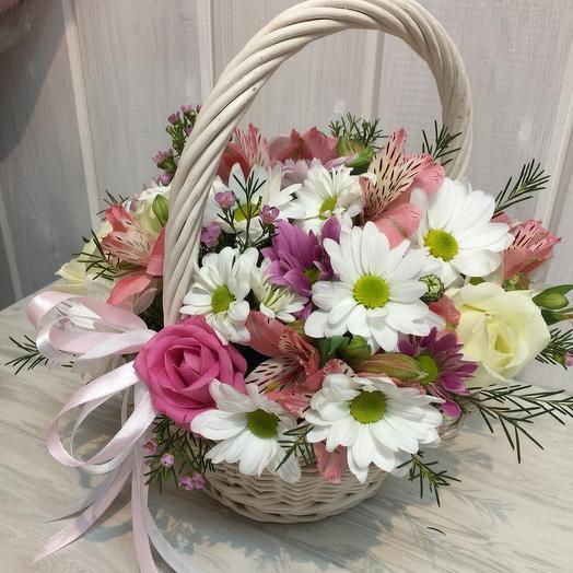 Корзинки нежности: букеты цветов на заказ Flowwow