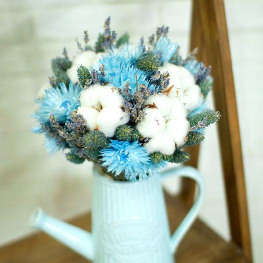 Букет с хлопком в вазе лейка: букеты цветов на заказ Flowwow