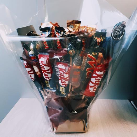 "Шоколадный букет ""Костер"": букеты цветов на заказ Flowwow"