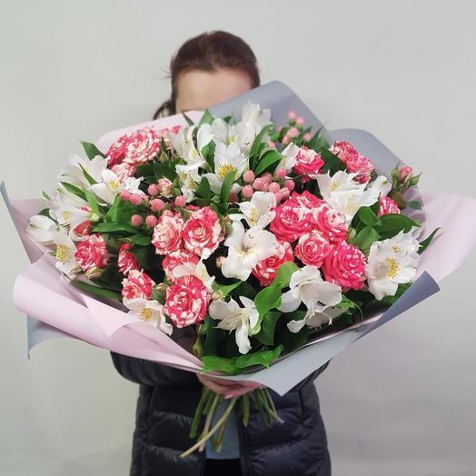 Белая полоса: букеты цветов на заказ Flowwow