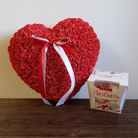 Сердце 2 в 1: букеты цветов на заказ Flowwow