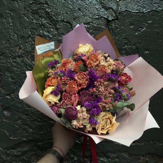 Букет сухоцветов: букеты цветов на заказ Flowwow