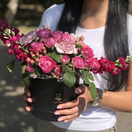 Шляпная коробка 07: букеты цветов на заказ Flowwow
