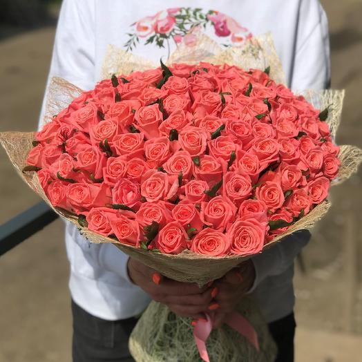 Розы. Букет из 101 розы. N510: букеты цветов на заказ Flowwow