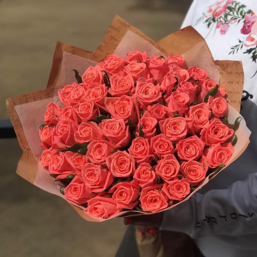 Розы. Букет из 51 розы. N511: букеты цветов на заказ Flowwow