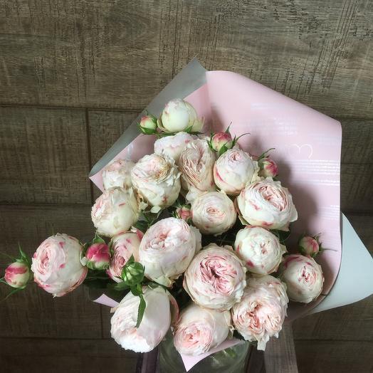 Пионовидная роза по супер цене: букеты цветов на заказ Flowwow