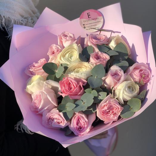 Премиальные цветы в одном флаконе: букеты цветов на заказ Flowwow