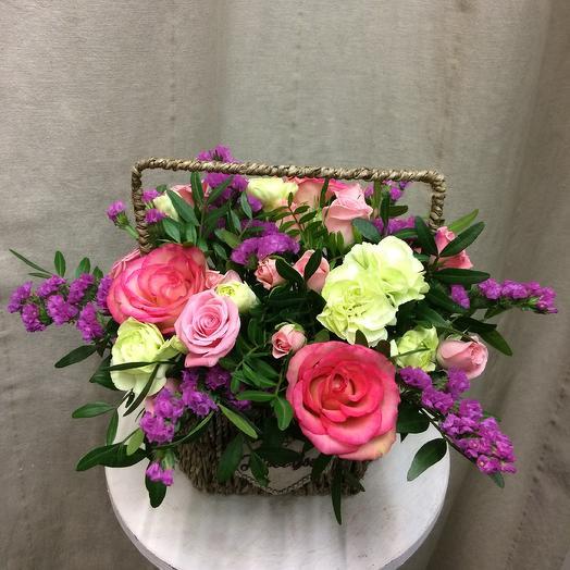 Цветочная корзиночка «Pretty girl»: букеты цветов на заказ Flowwow