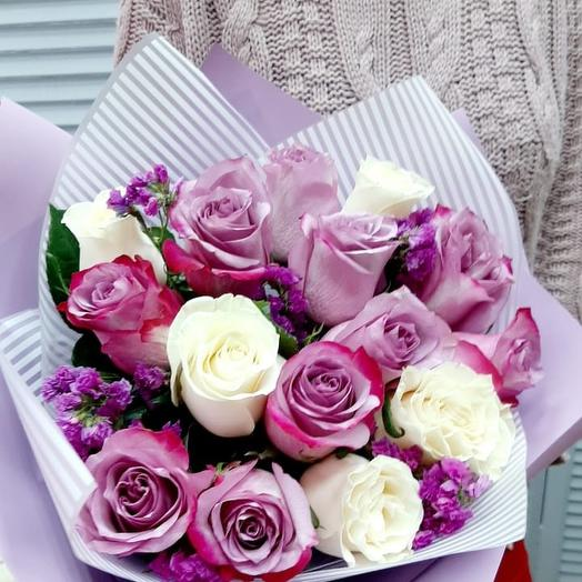 Черничный мусс: букеты цветов на заказ Flowwow