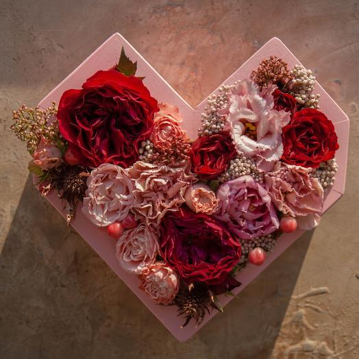 Сердце красавицы: букеты цветов на заказ Flowwow