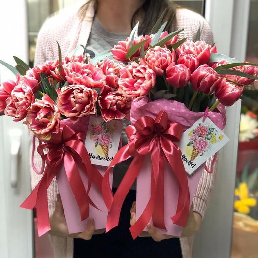 8 марта Тюльпаны: букеты цветов на заказ Flowwow