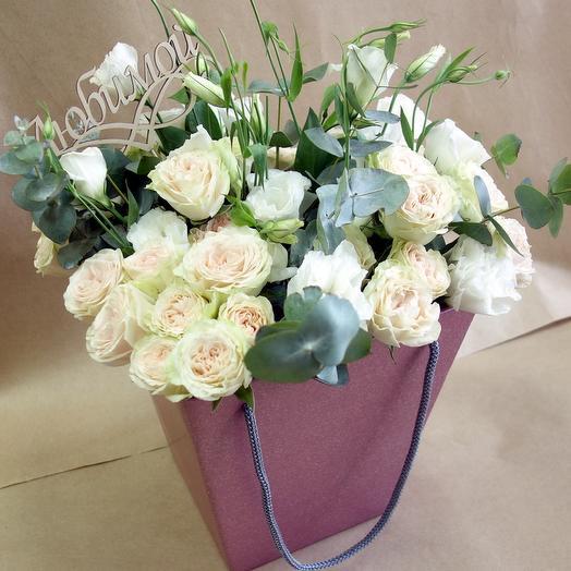 """Коробка из  роз """"Белла """""""