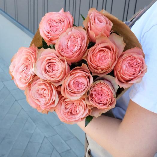 11 Kahala peony roses 60cm in Kraft paper