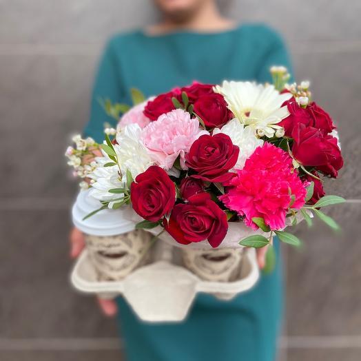 Цветы и кофе😍