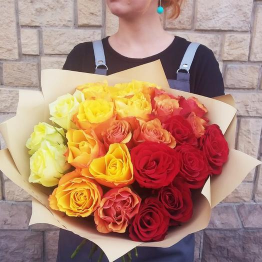 """Букет из роз """"Краски любви"""""""