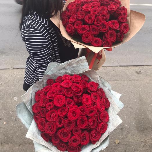 Красная Роза 51 шт