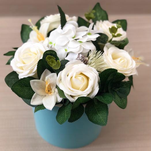 Розы премиум и лилии
