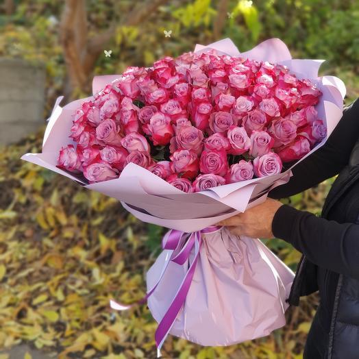 101 роза пурпур Эквадора