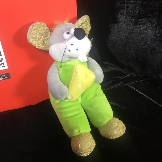 Игрушка мышь с сыром