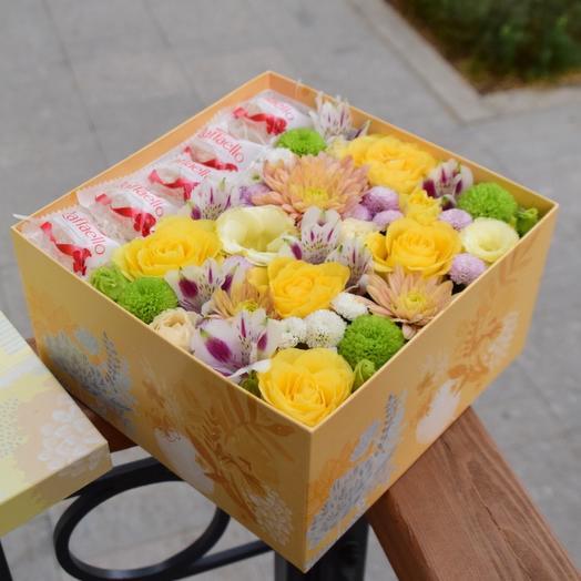 Яркая коробочка с раффаэлло