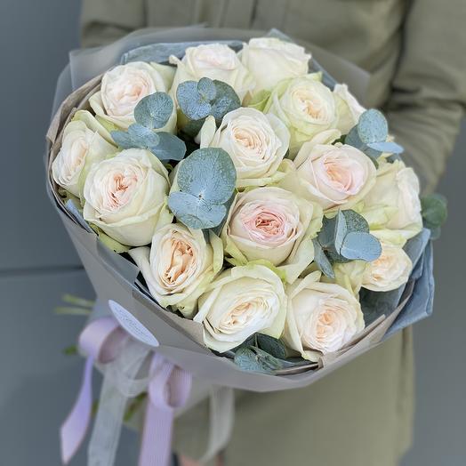 Букет Охара из одноголовой пионовидной розы