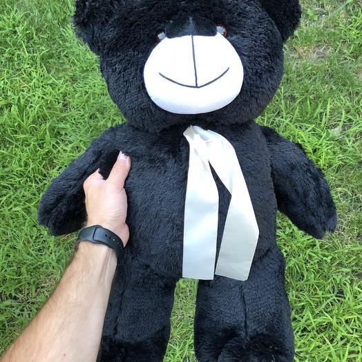 Плюшевий ведмедик 70 см чорний