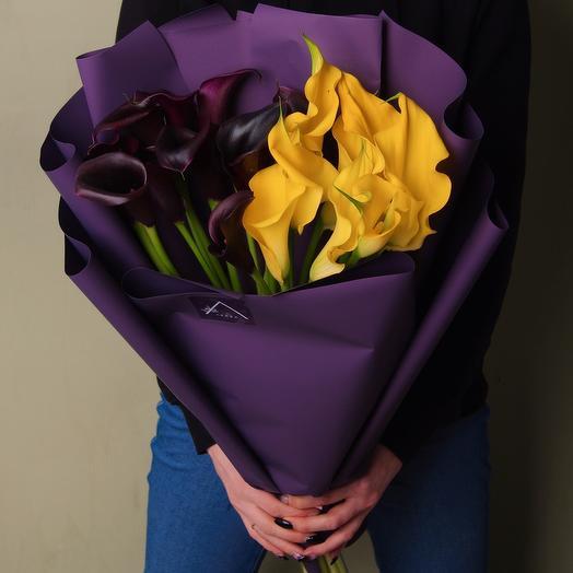 Каллы дуо или моно вариант в разных расцветках