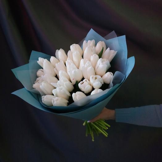"""Букет""""35 белых тюльпанов"""""""