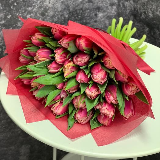 35 пионовидных Тюльпанов