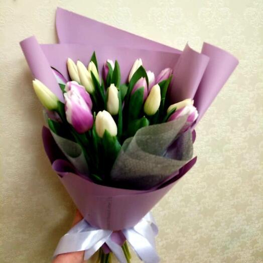 Вайолет 17 тюльпанов
