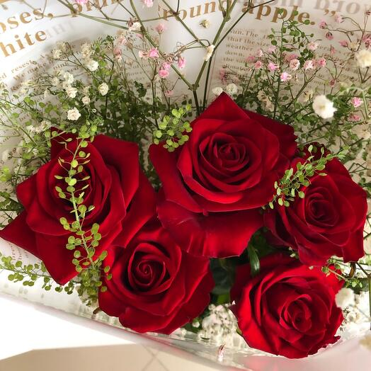Букет роз Ретро 70 см