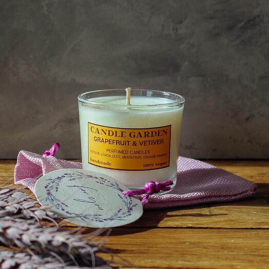 Соевая арома свеча Грейпфрут , 100 мл