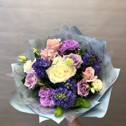 Розы и Гиацинты в букете