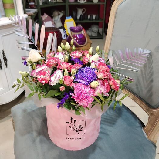 """Цветы в коробке """"Вдохновение"""""""