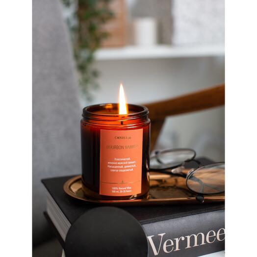 Ароматические свечи BOURBON   VANILLA / Бурбон и Ваниль, ноты аромасвечи: ром, ваниль, мускус и др. Свеча CANDLE ME