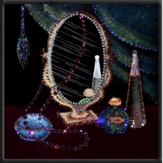 "Картина с кристаллами Swarovski ""Натюрморт с зеркалом"""