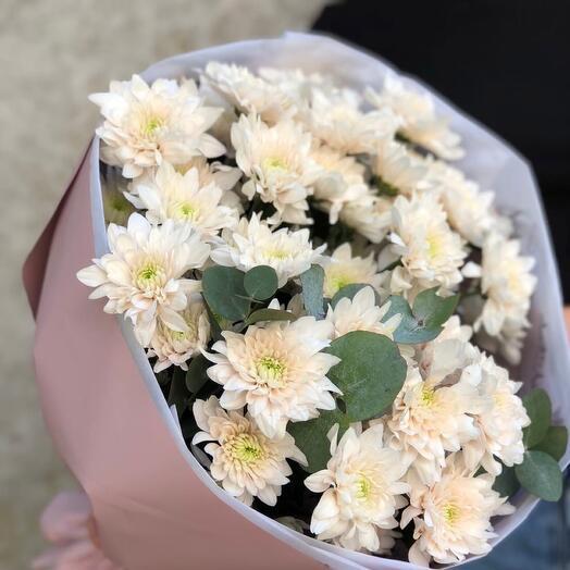 Bouquet of bush chrysanthemums