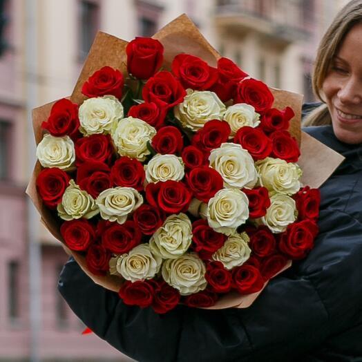 51 элитная роза Эквадор