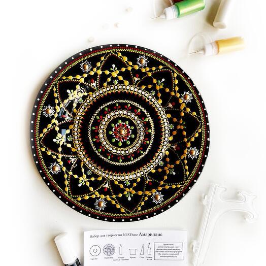 Набор для росписи стеклянной тарелки NESTbase «Амариллис»