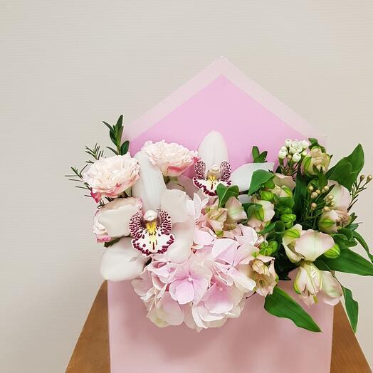 Конверт с орхидеями