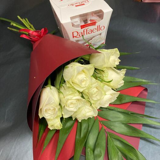 Розы и рафаэлло ️