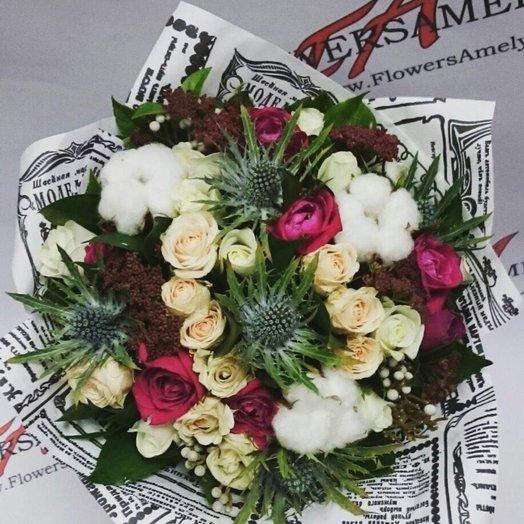 Букет Зимняя сказка: букеты цветов на заказ Flowwow