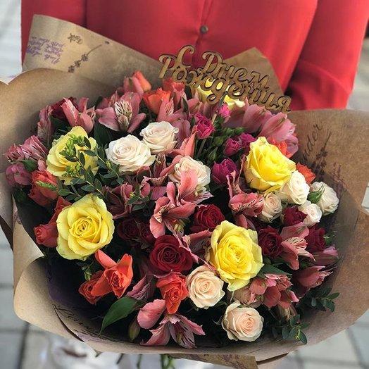 Букет микс : букеты цветов на заказ Flowwow
