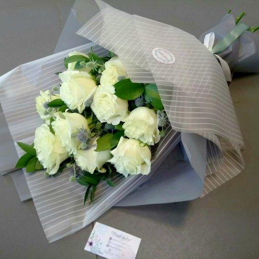 Очаровательный букет роз: букеты цветов на заказ Flowwow