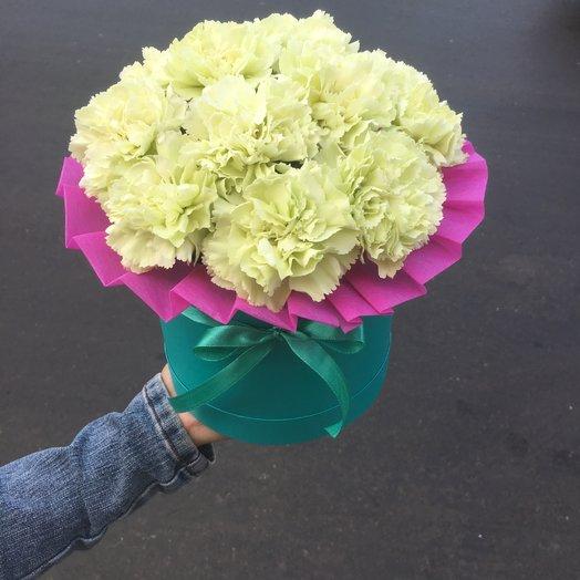 Белые Гвоздики: букеты цветов на заказ Flowwow