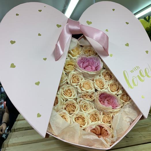 Сердце нашей любви: букеты цветов на заказ Flowwow