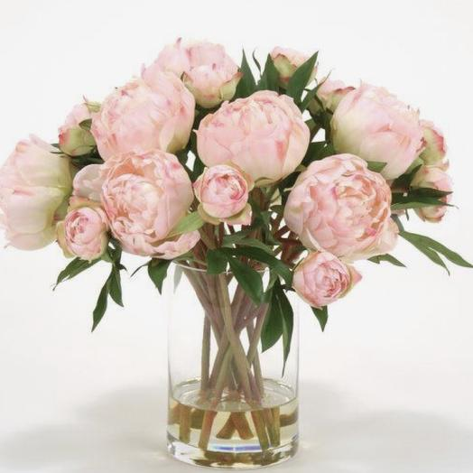 Пионы в вазе: букеты цветов на заказ Flowwow