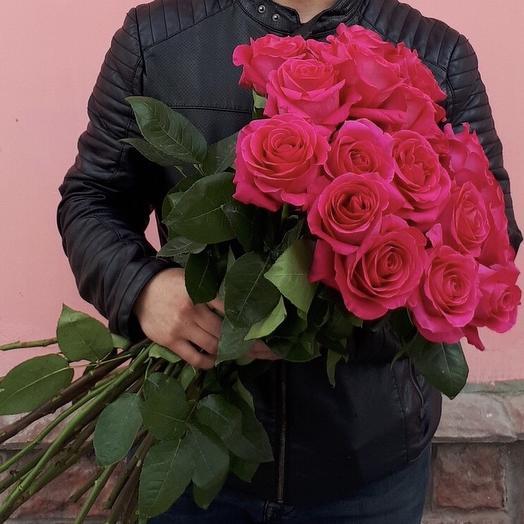 Букет «21 алая роза»: букеты цветов на заказ Flowwow