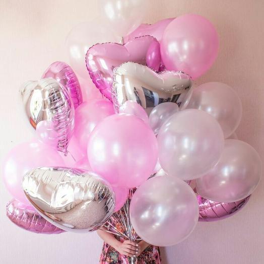 """Связка шаров """"Розовая любовь"""": букеты цветов на заказ Flowwow"""